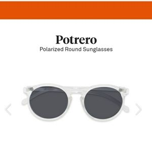 Round Sunglasses, Clear Frame